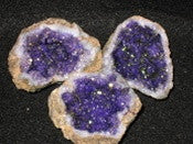 "Geode - Split ""amethyst"" color purple - 2 puzzle pieces - dinosaursrocksuperstore"