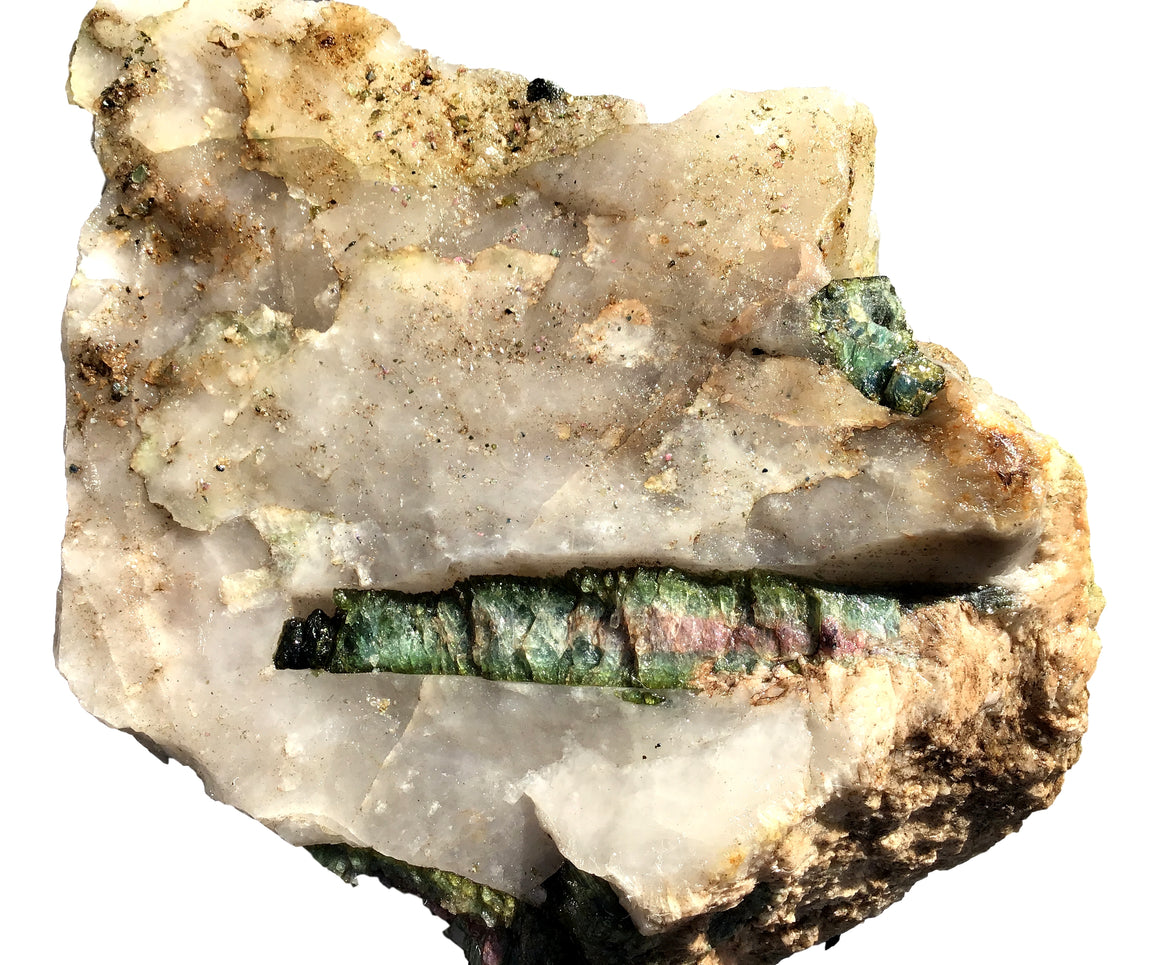"Watermelon Tourmaline Crystal Mineral Display Specimen #10 - Giant - 9"" x 6"" - dinosaursrocksuperstore"