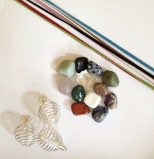 Make Your Own Gemstone Jewelry Kit - set of 10 - dinosaursrocksuperstore