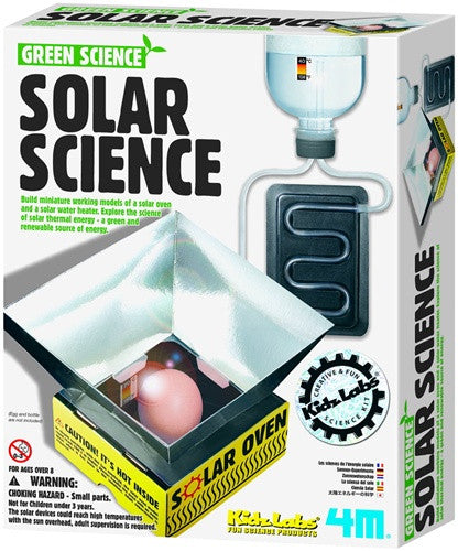 Earth Day! Solar Science Kit - Green Science - 4M - dinosaursrocksuperstore