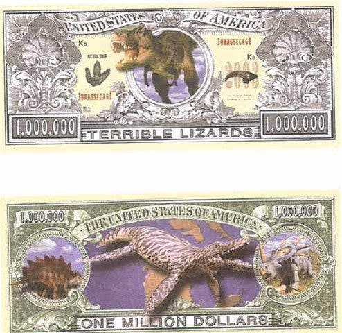 "Favor - Dinosaur ""Million Dollar"" Bills - 20 - dinosaursrocksuperstore"