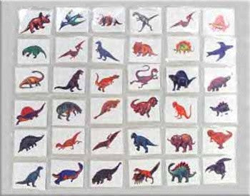 Favor - Dinosaur Tattoos - set of 12 - dinosaursrocksuperstore
