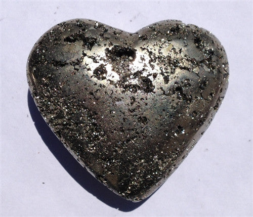 Pyrite Carved Heart #3 - dinosaursrocksuperstore