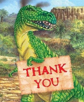 Favor - Dinosaur Thank You Cards - 8 - dinosaursrocksuperstore
