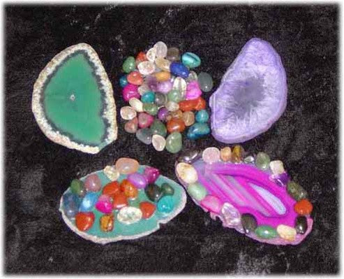 Make Your Own Sliced Agate Paperweight - set of 10 - dinosaursrocksuperstore