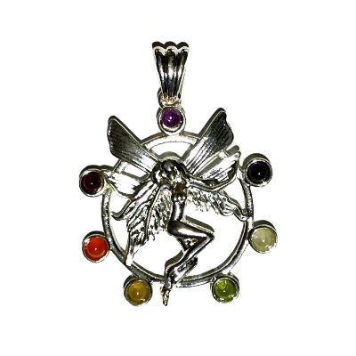 Chakra Dancing Shiva Pendant - gift packaged
