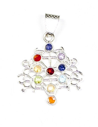 Chakra Tree of Life Pendant  - gift packaged. - dinosaursrocksuperstore