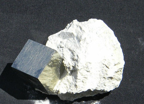 Genuine Pyrite Cube in Matrix - from Spain - dinosaursrocksuperstore
