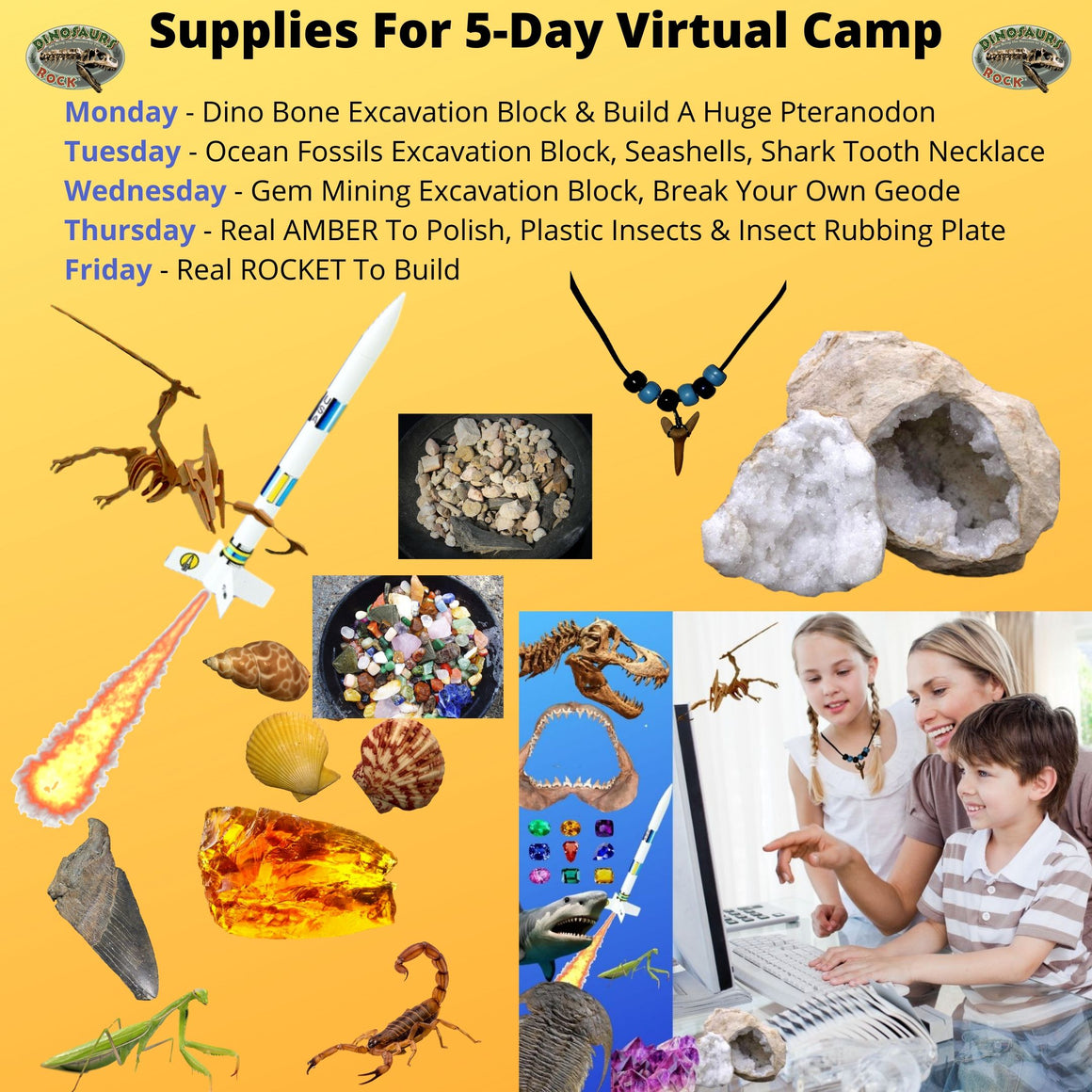 5-Day Virtual Camp Supplies with Complete Instructions