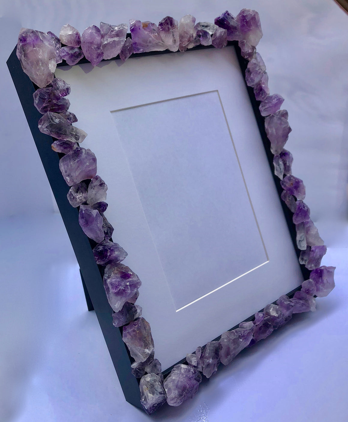 "Amethyst Crystal Point Picture Frame - 9"" x 11"" - dinosaursrocksuperstore"