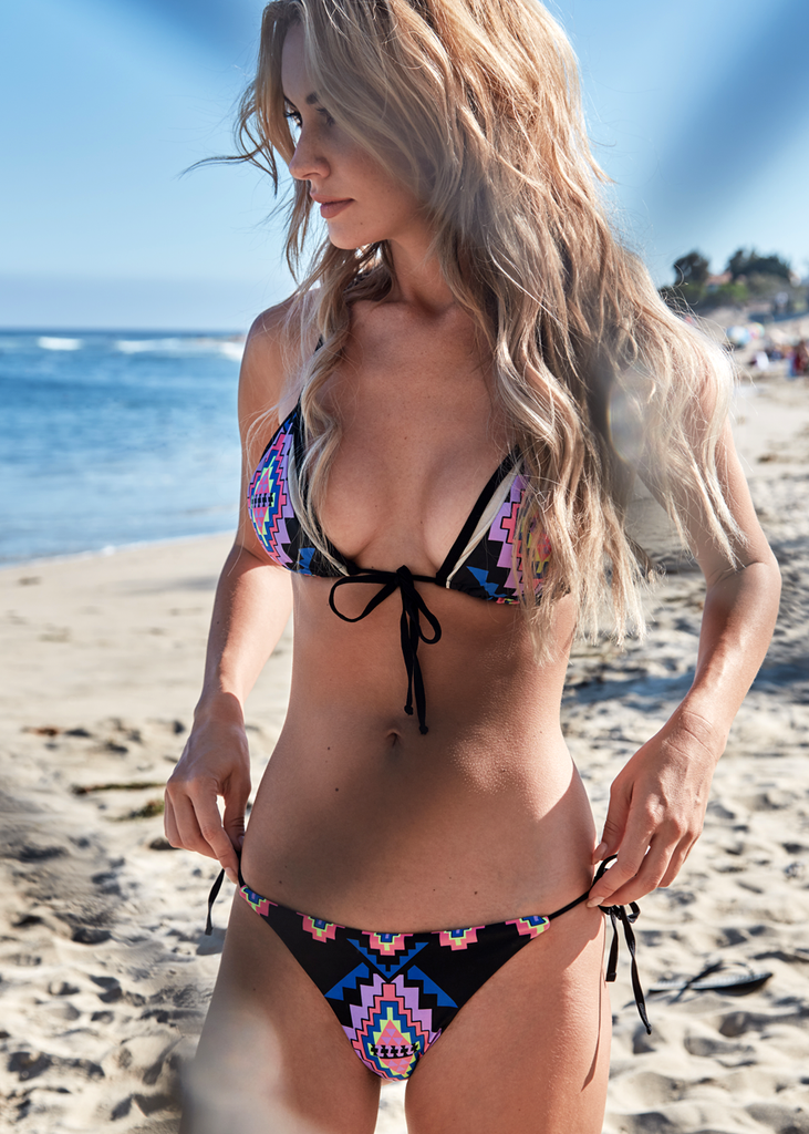 Astrea Mix' N 'Match Front Tie Bikini Top - Thrive Swimwear