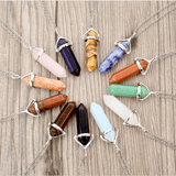 Natural Stone Healing Point Pendant