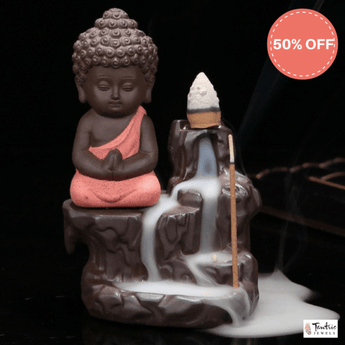 Little Buddha Back Flow Incense Burner 1 - TantricJewels