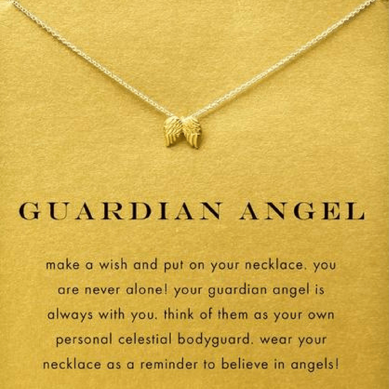 product the collection sterling silver angel bell pendant guardian necklace