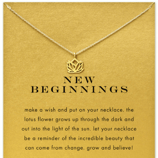 Lotus New Beginnings Necklace