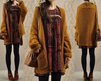 Autumn Vintage Oversized Sweater