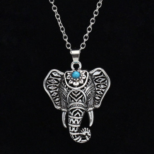 Mantra Turquoise Elephant Necklace