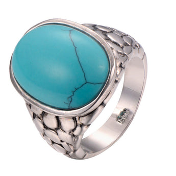 Turquoise 925 Sterling Silver Ring - TantricJewels