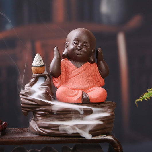 Funny Little Monk Incense Burner