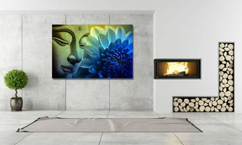 Buddha Lotus Flower Canvas