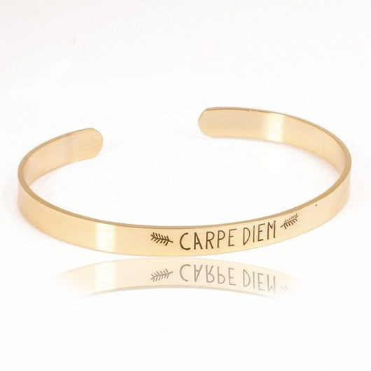 Carpe Diem Statement Bracelet