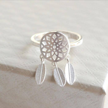 Silver Dreamcatcher Ring