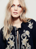 Shannon Embroidered Loose Boho Top