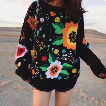 Wild Flowers Sweater