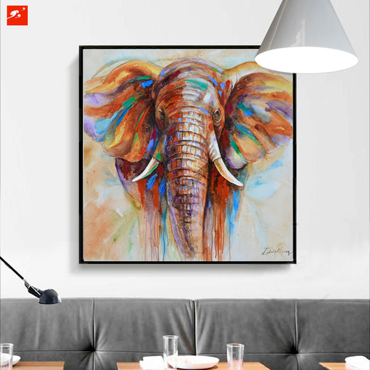 Sacred Elephant Canvas Wall Art