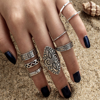 Lotus Ring Set