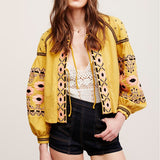 Embroidered Floral Hippie Jacket