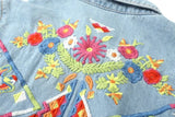 Embroidered Floral Denim Shirt