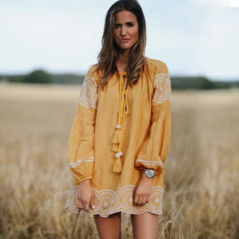 Sunshine Boho Midi Dress