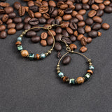 Ethnic Tassel Hoops