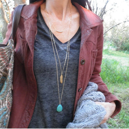 Turquiose Layered Necklace