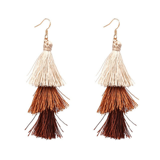 3 Tiered Tassel Earrings