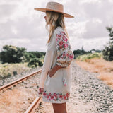 Flower Child Embroidered Dress
