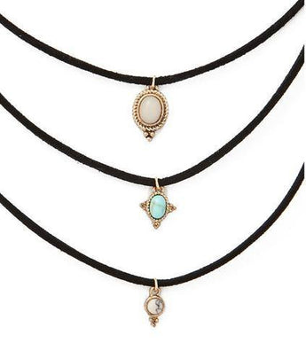 3 Pcs Choker Necklace Set - TantricJewels