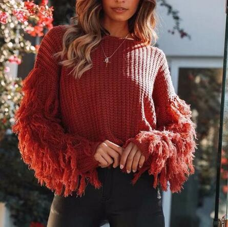 Autumn Tassel Sweater