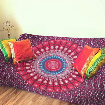 Sleeping Pad Indian Bohemian Mandala Tapestry Wall Hanging Sandy Beach Picnic Throw Rug Blanket Camping Tent Travel Mattress - TantricJewels