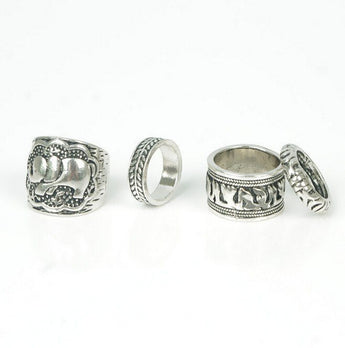 Tibetan Elephant Ring Set - TantricJewels