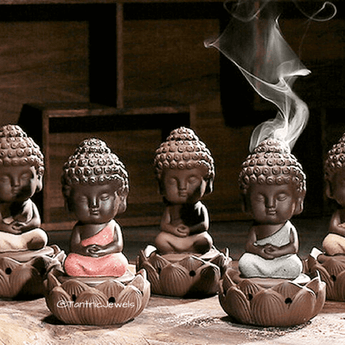 Lotus Little Buddha Incense Burner