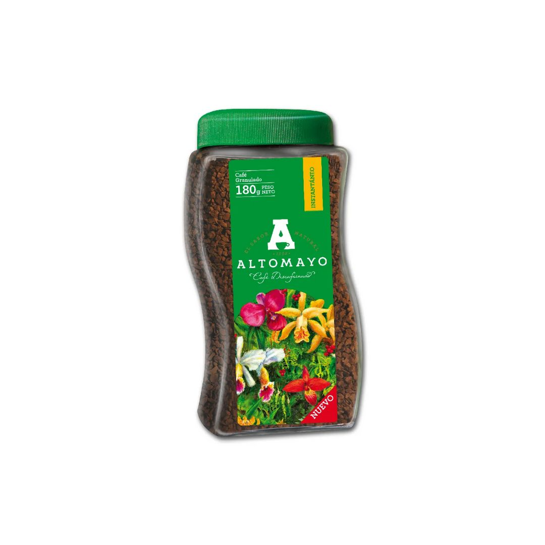 Cafe Altomayo Descafeinado Frasco x 180gr