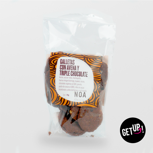 Noa Galleta con Avena y Triple chocolate - GET UP! Delicious Life