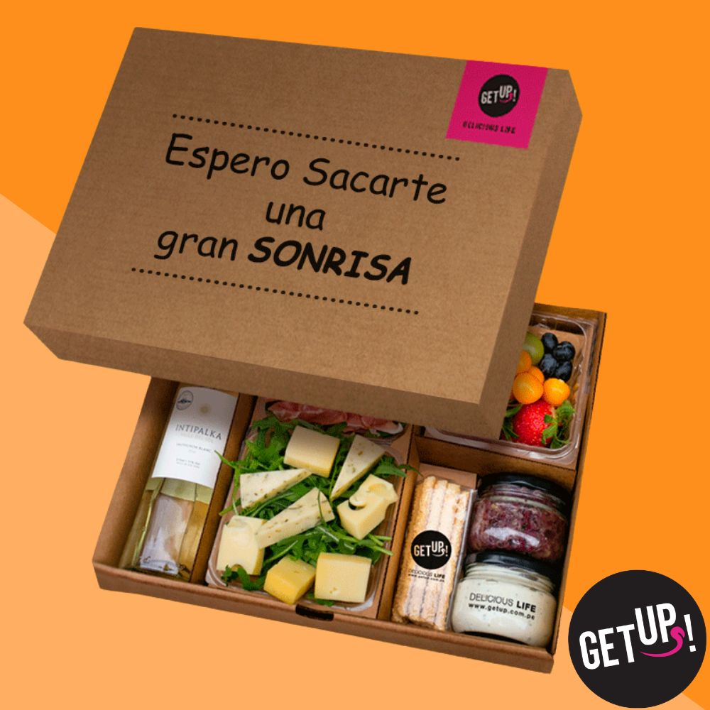 Celebration Box getUP!, Delicatesen, Gourmet, Piqueo Gourmet, Lima Perú, Snacks Sorpresa, Box Sorpresa, Comida Saludable, Tabla de Quesos