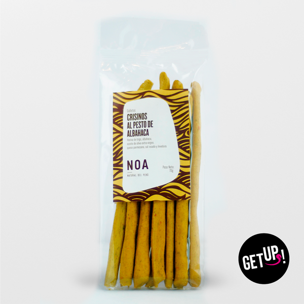Noa Crissinos al pesto de albahaca - GET UP! Delicious Life