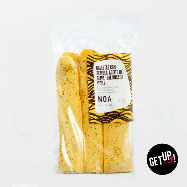 Noa Galleta con Semola y Finas hierbas - GET UP! Delicious Life