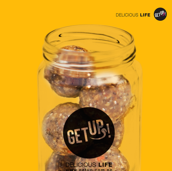 Carrot cake pop con granola y semillas - GET UP! Delicious Life