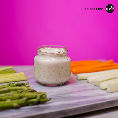 Dips de vegetales y Blue Cheese