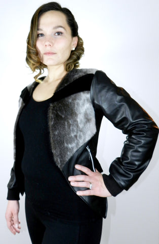 Ring Sealskin and Leather Blazer